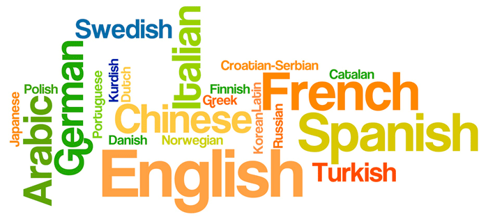 word cloud language