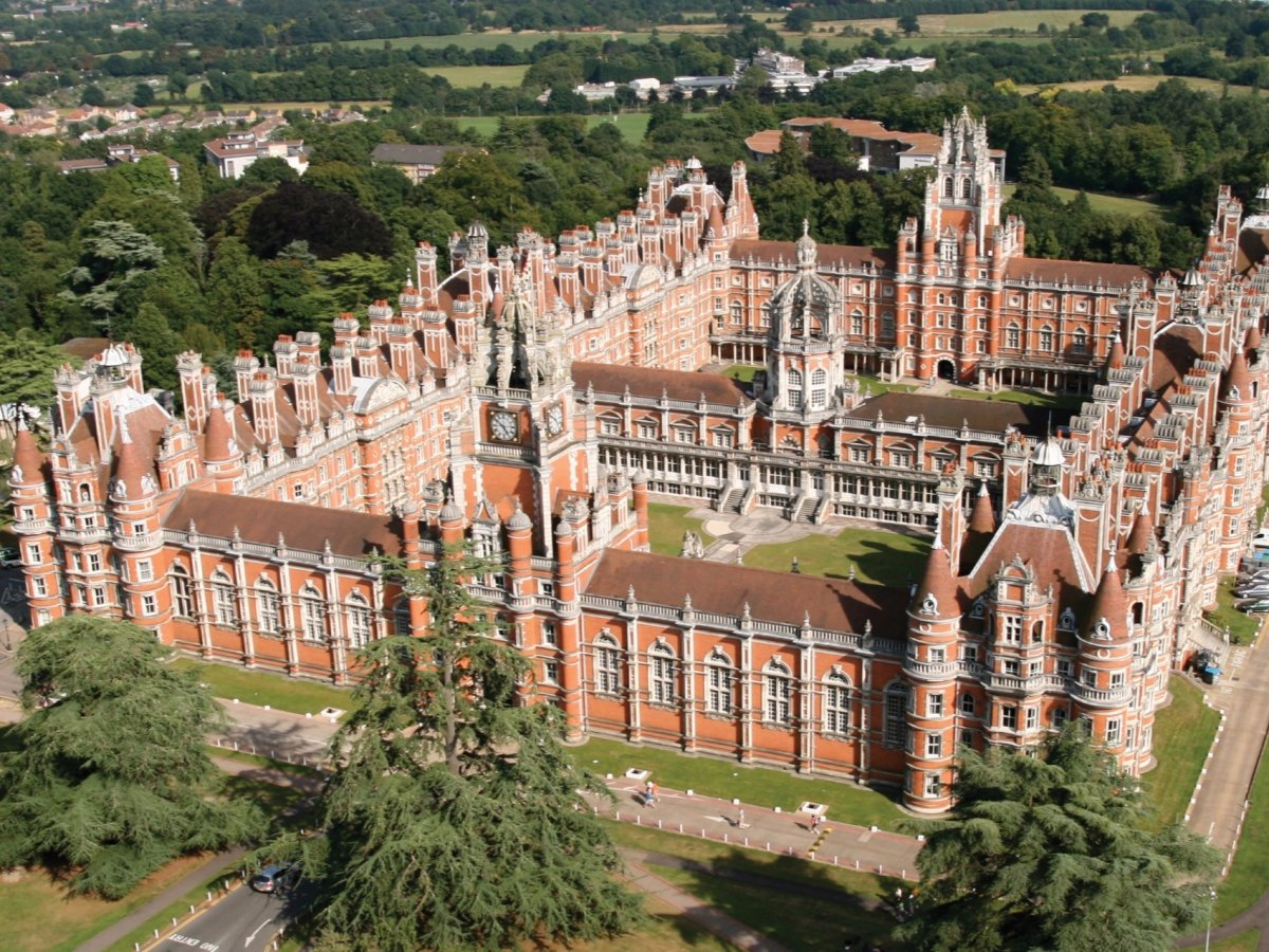 7: Royal Holloway – 2.6%. Royal Holloway's Egham Campus was founded in 1879 by Victorian entrepreneur Thomas Holloway as an all-women college. It started to accept male students in 1945.