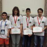 С два златни, един сребърен и един бронзов медал се завърна българският олимпийски отбор от Балканската олимпиада по информатика.