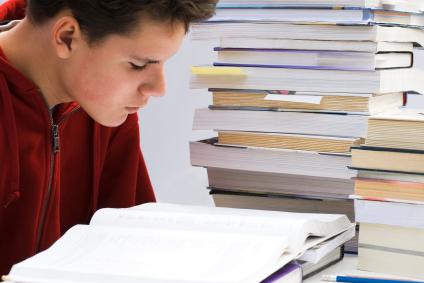 tock 000007705911XSmall teenage boy studying