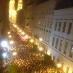 Протест срещу затварянето на Централноевропейския университет